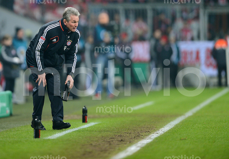 FUSSBALL  DFB-POKAL  VIERTELFINALE  SAISON 2012/2013    FC Bayern Muenchen - Borussia Dortmund          27.02.2013 Trainer Jupp Heynckes (FC Bayern Muenchen)