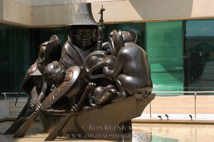 The Spirit of Haida Gwaii, The Black Canoe, Bill Reid 1991, Canadian Embassy, Washington DC