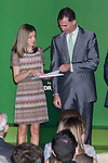 03.07.2012. Princess Letizia of Spain and Prince Felipe of Spain attend Iberdrola Foundation Scholarships 2012 at 'Casa de America' in Madrid. In the image Princess Letizia and Prince Felipe (Alterphotos/Marta Gonzalez)