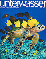 Unterwasser Magazine, July 2012, cover use, Germany, Image ID: Florida-Manatee-0013