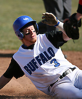 April 5, 2009:  Outfielder Charlie Karstedt (3) of the University of Buffalo Bulls during a game at Amherst Audubon Field in Buffalo, NY.  Photo by:  Mike Janes/Four Seam Images