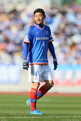 Yuzo Kurihara (F Marinos), <br /> FEBRUARY 21, 2015 - Football / Soccer :<br /> 2015 J.League Pre-season match between <br /> Yokohama F Marinos 0-1 Matsumoto Yamaga FC <br /> at Nissan Stadium in Kanagawa, Japan. <br /> (Photo by Yohei Osada/AFLO SPORT) [1156]