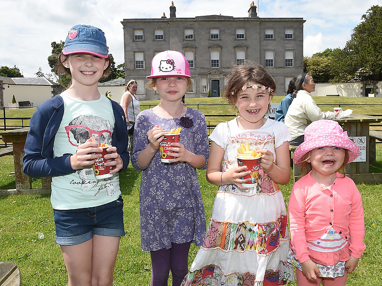 Emma and Niamh Waters and Sarah and Grace Hampson pictured at Oldbridge House open day. Photo:Colin Bell/pressphotos.ie