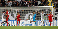Calcio, Champions League: Gruppo D - Juventus vs Siviglia. Torino, Juventus Stadium, 30 settembre 2015.  <br /> Juventus&rsquo; Alvaro Morata, third from right, celebrates after scoring during the Group D Champions League football match between Juventus and Sevilla at Turin's Juventus Stadium, 30 September 2015.<br /> UPDATE IMAGES PRESS/Isabella Bonotto