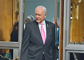 United States Senator Orrin Hatch (Republican of Utah) arrives to listen to Christopher A. Wray testify on his nomination to be Director of the Federal Bureau of Investigation (FBI) before the US Senate Committee on the Judiciary on Capitol Hill in Washington, DC on Wednesday, July 12, 2017.  Senator Hatch is the President pro-tempore of the US Senate, making him third in line to the US Presidency after the Vice President and Speaker of the US House of Representatives.<br /> Credit: Ron Sachs / CNP<br /> (RESTRICTION: NO New York or New Jersey Newspapers or newspapers within a 75 mile radius of New York City)