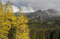 Mountains,lakes and forests are predominant features of Rocky Mountain National Park, Colorado