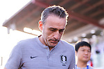South Korea Head Coach Paulo Bento reacts prior to the AFC Asian Cup UAE 2019 Round of 16 match between South Korea (KOR) and Bahrain (BHR) at Rashid Stadium on 22 January 2019 in Dubai, United Arab Emirates. Photo by Marcio Rodrigo Machado / Power Sport Images