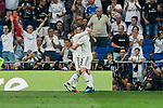Real Madrid's Dani Carvajal (l) and Gareth Bale (r) celebrate goal during La Liga match. September 01, 2018. (ALTERPHOTOS/A. Perez Meca)