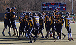 WATERBURY, CT - 23 NOVEMBER 2017 -112317JW09.jpg -- Kennedy High School players celebrate their win over Crosby during the Thanksgiving Day Game at Municipal Stadium.  Jonathan Wilcox Republican-American