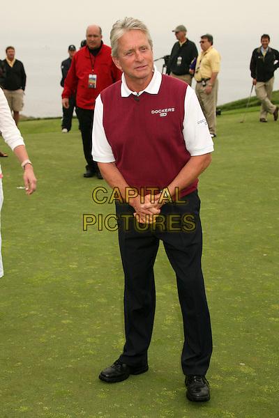 MICHAEL DOUGLAS .9th Annual Michael Douglas & Friends Celebrity Golf Event at the Trump National Golf Club, Rancho Palos Verdes, California, USA..April 29th, 2007.sport full length sleeveless black trousers burgundy top .CAP/ADM/BP.©Byron Purvis/AdMedia/Capital Pictures