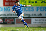 St Johnstone v Aberdeen...06.02.16   SPFL   McDiarmid Park, Perth<br /> Tam Scobbie celebrates his goal that made it 4-3<br /> Picture by Graeme Hart.<br /> Copyright Perthshire Picture Agency<br /> Tel: 01738 623350  Mobile: 07990 594431