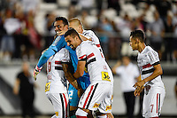 Orlando, FL - Saturday Jan. 21, 2017: São Paulo celebrate the 4-3 penalty shootout victory by embracing their goalkeeper goalkeeper Sidão (12) during the Florida Cup Championship match between São Paulo and Corinthians at Bright House Networks Stadium. The game ended 0-0 in regulation with São Paulo defeating Corinthians 4-3 on penalty kicks.