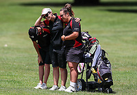 Waikato players dejected. Day One of the Toro Interprovincial Women's Championship, Sherwood Golf Club, Whangarei,  New Zealand. Thursday 7 December 2017. Photo: Simon Watts/www.bwmedia.co.nz
