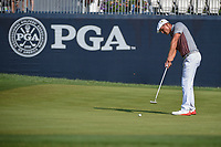 Bryson DeChambeau (USA) watches his putt on 9 during 2nd round of the 100th PGA Championship at Bellerive Country Club, St. Louis, Missouri. 8/11/2018.<br /> Picture: Golffile | Ken Murray<br /> <br /> All photo usage must carry mandatory copyright credit (© Golffile | Ken Murray)