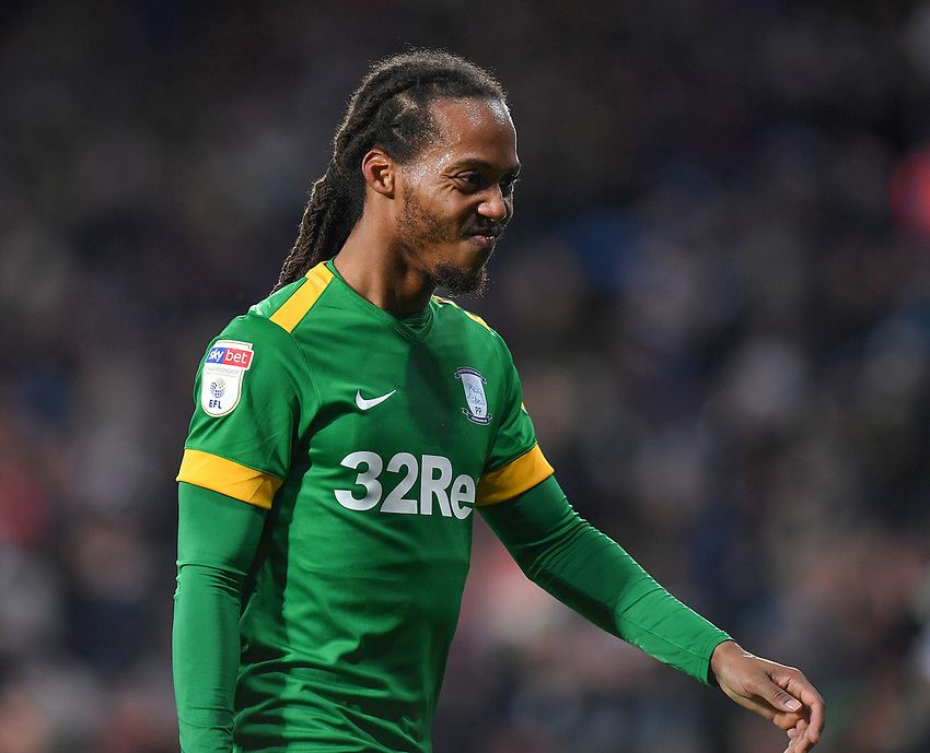 Preston North End's Daniel Johnson looks dejected<br /> <br /> Photographer Dave Howarth/CameraSport<br /> <br /> The EFL Sky Bet Championship - West Bromwich Albion v Preston North End - Tuesday 25th February 2020 - The Hawthorns - West Bromwich<br /> <br /> World Copyright © 2020 CameraSport. All rights reserved. 43 Linden Ave. Countesthorpe. Leicester. England. LE8 5PG - Tel: +44 (0) 116 277 4147 - admin@camerasport.com - www.camerasport.com