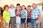 Pictured at the Marquee dancing at the Dan Paddy Andy festival on Sunday were L-R: Rita Hannon, Listowel, Mossy Welsh, Lisselton, Eileen Summers, Dunloe, Joan Mehan, Listowel, Nuala and Donie Doherty, Killarney.