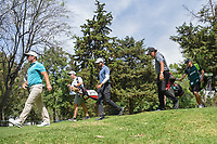 Ryan Fox (NZL), Aaron Rai (ENG), and Phil Mickelson (USA)head down 16 during round 3 of the World Golf Championships, Mexico, Club De Golf Chapultepec, Mexico City, Mexico. 2/23/2019.<br /> Picture: Golffile | Ken Murray<br /> <br /> <br /> All photo usage must carry mandatory copyright credit (© Golffile | Ken Murray)