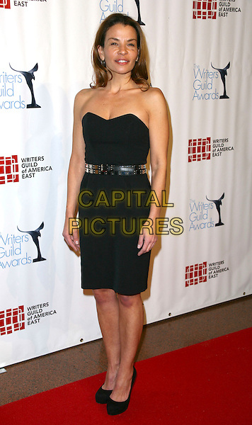 JENNY LUMET .The 63rd annual Writers Guild Awards at the AXA Equitable Center on February 5, 2011 in New York, New York, NY, USA, 5th February 2011..full length strapless black dress platform shoes .CAP/ADM/PZ.©Paul Zimmerman/AdMedia/Capital Pictures.