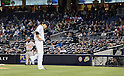 Masahiro Tanaka (Yankees), APRIL 9, 2014 - MLB : New York Yankees starting pitcher Masahiro Tanaka reacts after giving up a 3-run home run in the 2nd inning during the MLB game between the New York Yankees and the Baltimore Orioles at Yankee Stadium in The Bronx, New York, United States. (Photo by AFLO)