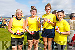 The Callinafercy Senior Ladies crew took Gold at the Valentia Regatta on Sunday pictured here l-r; Margo Lawlor, Savannagh Knightly, Avril Murphy, Marie O'Sullivan and coxed by Mike Scannell.  Sive took second and Sneem in third place.