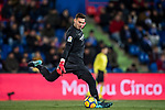 Goalkeeper Roberto Jimenez Gago of Malaga CF reacts during the La Liga 2017-18 match between Getafe CF and Malaga CF at Coliseum Alfonso Perez on 12 January 2018 in Getafe, Spain. Photo by Diego Gonzalez / Power Sport Images
