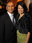 UH Chancellor Dr. Renu Khator with her husband Dr. Suresh Khator at Celebrating 40 Years: University of Houston- Downtown Gala at the JW Marriott Downtown Friday Jan. 23,2015.(Dave Rossman For the Chronicle)