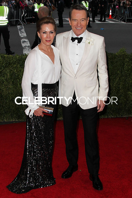 "NEW YORK CITY, NY, USA - MAY 05: Robin Dearden, Bryan Cranston at the ""Charles James: Beyond Fashion"" Costume Institute Gala held at the Metropolitan Museum of Art on May 5, 2014 in New York City, New York, United States. (Photo by Xavier Collin/Celebrity Monitor)"