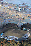 Massive 8.9-magnitude earthquake hits Japan. Massive Tsunami triggered by a huge earthquake in northeastern Japan, Saturday, March 12, 2011. Miyagi PM3:51 Photo:Mainichi/Nippon News.