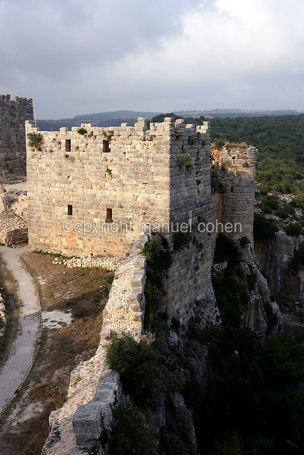 Massive keep, Castle of Saladin, taken from the Crusaders in 1188 AD, Latakia, Syria Picture by Manuel Cohen