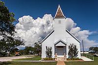 Old church building in Cherokee, TX