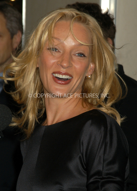 "Actress Uma Thurman attended the ""Room To Grow"" VIP Gala Auction at Christie's, New York City, January 26 2004. Please byline: AJ SOKALNER/NY Photo Press.   ..*PAY-PER-USE*      ....NY Photo Press:  ..phone (646) 267-6913;   ..e-mail: info@nyphotopress.com"