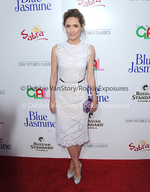 Rose Byrne  at The Sony Pictures Classics L.A. Premiere of Blue Jasmine held at The Academy of Motion Pictures Arts and Sciences in Beverly Hills, California on July 24,2013                                                                   Copyright 2013 Hollywood Press Agency