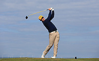 Tom Murray during Round Two of the West of England Championship 2016, at Royal North Devon Golf Club, Westward Ho!, Devon  23/04/2016. Picture: Golffile | David Lloyd<br /> <br /> All photos usage must carry mandatory copyright credit (&copy; Golffile | David Lloyd)
