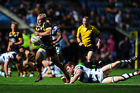 Dan Robson of Wasps goes on the attack. Pre-season friendly match, between Wasps and Yorkshire Carnegie on August 21, 2016 at the Ricoh Arena in Coventry, England. Photo by: Patrick Khachfe / JMP