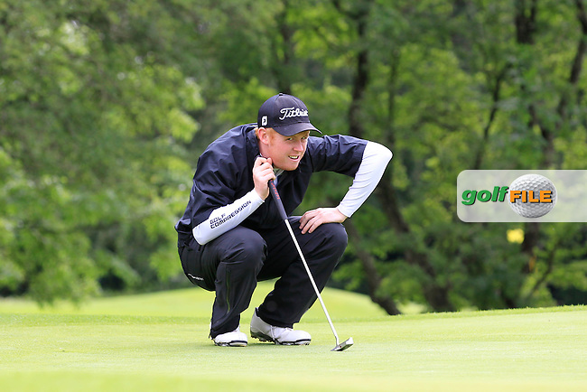 Eanna Griffin (Waterford) on the 2nd during round 1 of The Mullingar Scratch Cup in Mullingar Golf Club on Sunday 3rd August 2014.<br /> Picture:  Thos Caffrey / www.golffile.ie