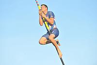 FIERLJEPPEN: IJST: 15-08-2013, 1e Klas wedstrijd, winnaar Bart Helmholt 20,96m, ©foto Martin de Jong