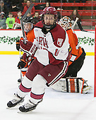 Mike Seward (Harvard - 18) - The Harvard University Crimson defeated the visiting Princeton University Tigers 5-0 on Harvard's senior night on Saturday, February 28, 2015, at Bright-Landry Hockey Center in Boston, Massachusetts.