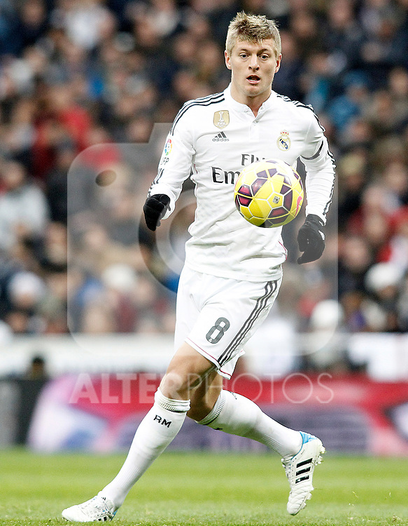 Real Madrid's Toni Kroos during La Liga match.January 31,2015. (ALTERPHOTOS/Acero)