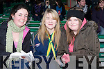 CASTLE GIRLS: Stephanie Lynch, Jessica Hoare and Jena Cronin supporting Castlegregory in Limerick on Sunday.