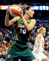 WNBA game at Mohegan Sun Arena between Connecticut Sun and Seattle Storm. August 13, 2009