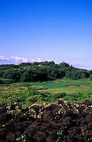 Hole No. 17 of Poipu Bay Resort golf course on Kauai
