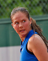 Paris, France, 28 June, 2016, Tennis, Roland Garros, Daria Kasatkina (RUS) reacts<br /> Photo: Henk Koster/tennisimages.com