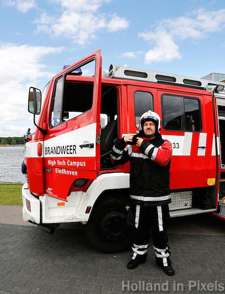 Brandweerwagen van de brandweer High Tech Campus in Eindhoven