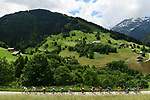 The 25 man breakaway group in action during Stage 6 of the 2018 Criterium du Dauphine 2018 running 110km from Frontenex to La Rosiere, France. 9th June 2018.<br /> Picture: ASO/Alex Broadway | Cyclefile<br /> <br /> <br /> All photos usage must carry mandatory copyright credit (&copy; Cyclefile | ASO/Alex Broadway)
