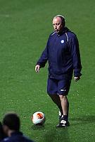 Napoli manager Rafa Benitez during training