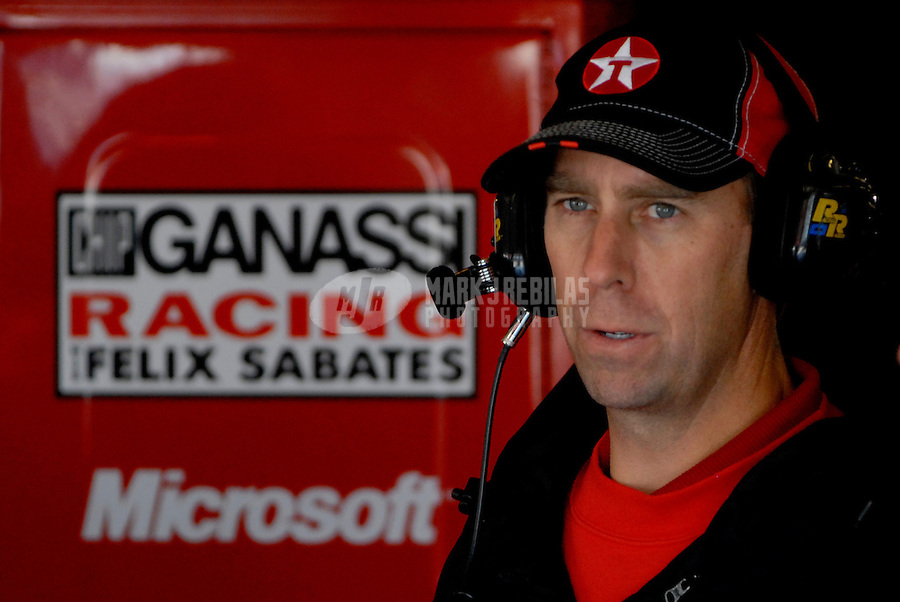 Nov 3, 2006; Fort Worth, TX, USA; Nascar Busch Series crew member Andy Graves during the O'Reilly Challenge at Texas Motor Speedway. Mandatory Credit: Mark J. Rebilas
