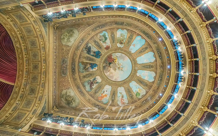 Europe, Italy, Sicily, Palermo, Teatro Massimo Ceiling