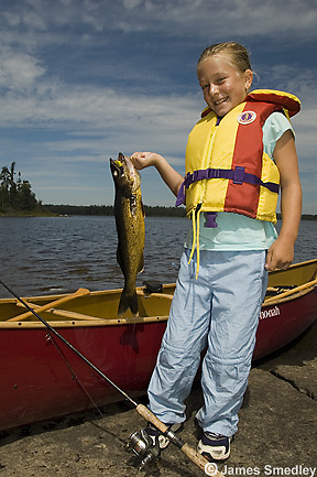 Fishing summer walleye