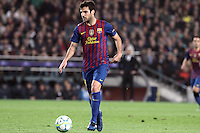 3.04.2012 Barcelona, Spain. UEFA Champions League , Quarter finals 2nd leg,       picture show  Cesc Fabregas in action  during match between FC Barcelona against AC MIlan AT Camp Nou