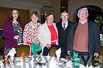 Enjoying the Kerry Supporters Social in the Ballygarry House Hotel on Saturday night.<br /> L to r: Jim Wrenn (Churchill), John O'Connell (Kilmoyley), Norma O'Connell (Kilmoyley), Mary and Helena Wrenn (Churchill)